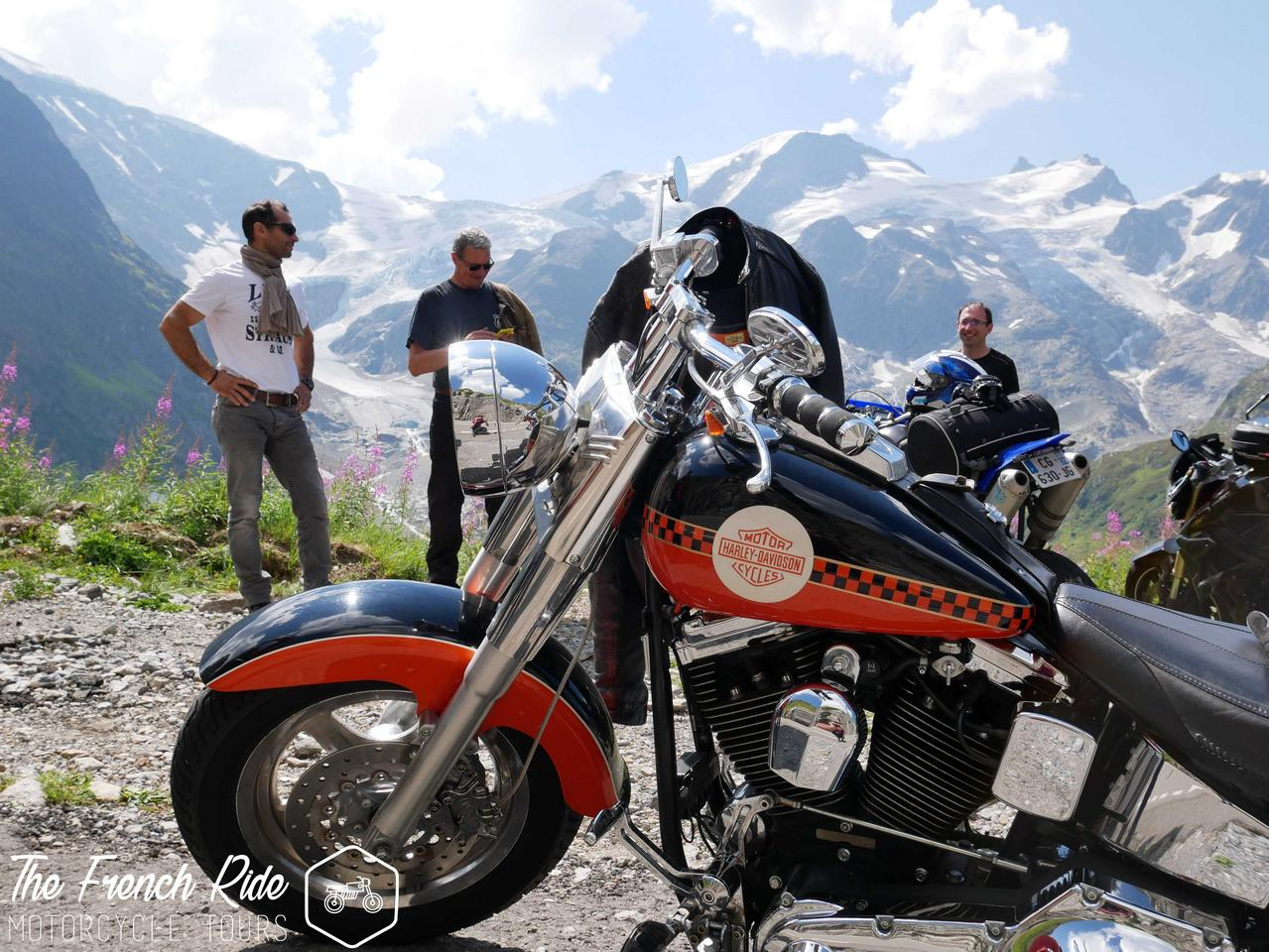 Grand Alps motorcycle tour in the great alpine road. Guided and self-guided motorcycle tour and rental in the Alps, France, Switzerland and Italy.