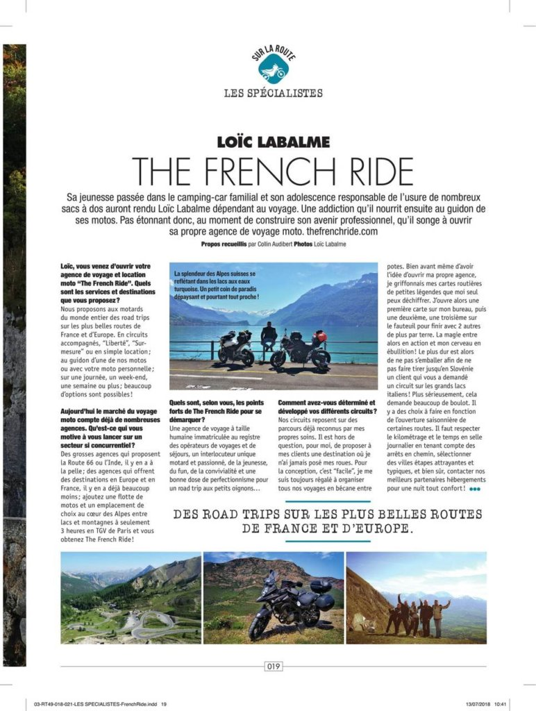 Press Is Talking About Us The French Ride
