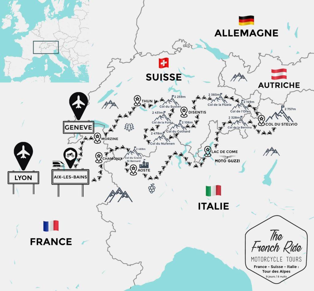 tour des alpes voyage moto en suisse et italie