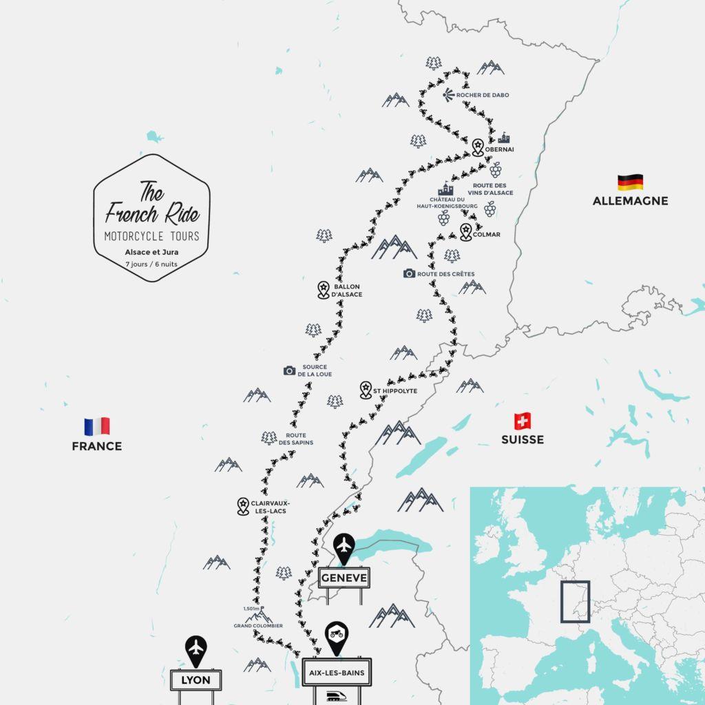 carte route des vins d'alsace à moto