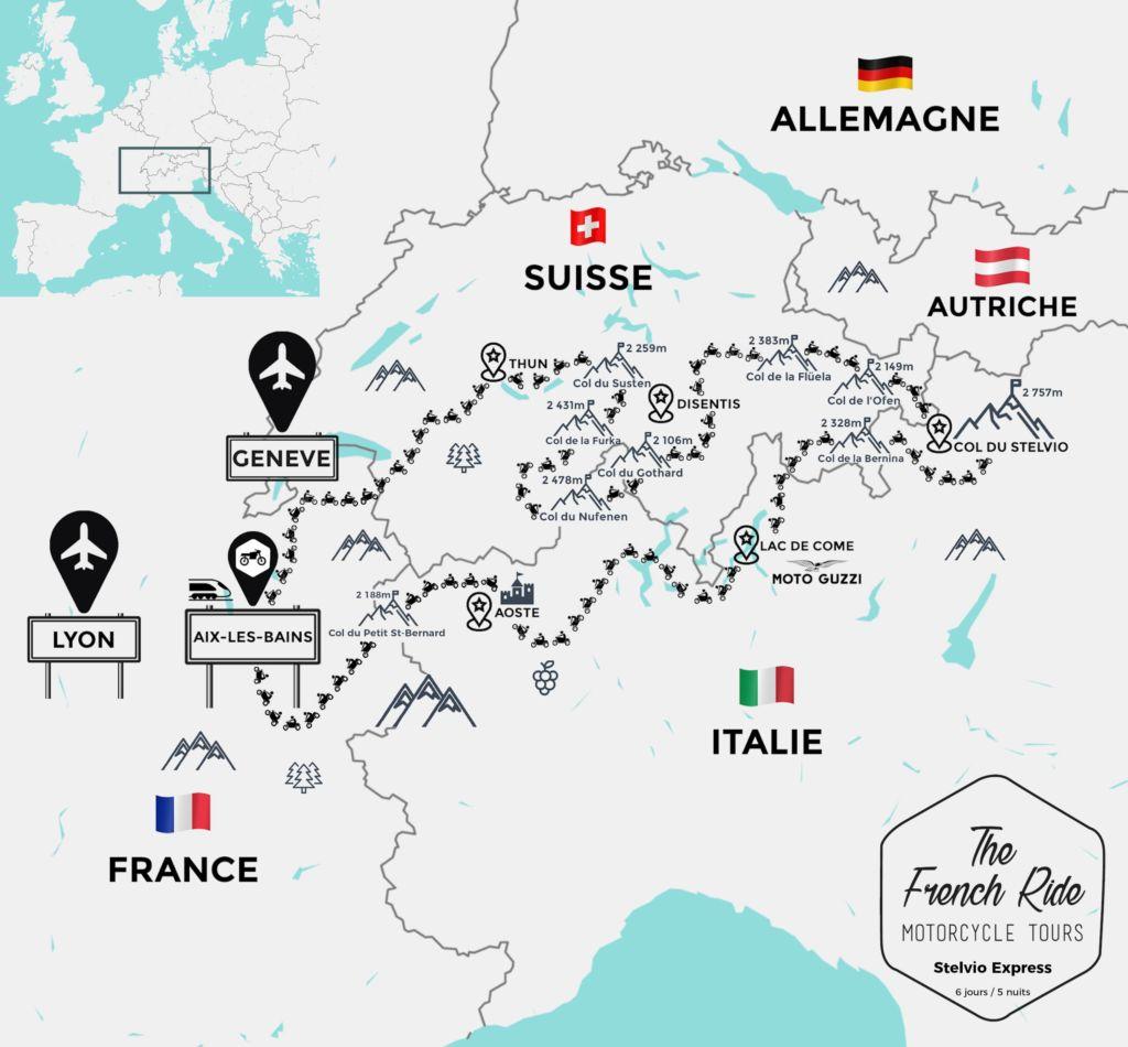carte moto des alpes suisses et italiennes