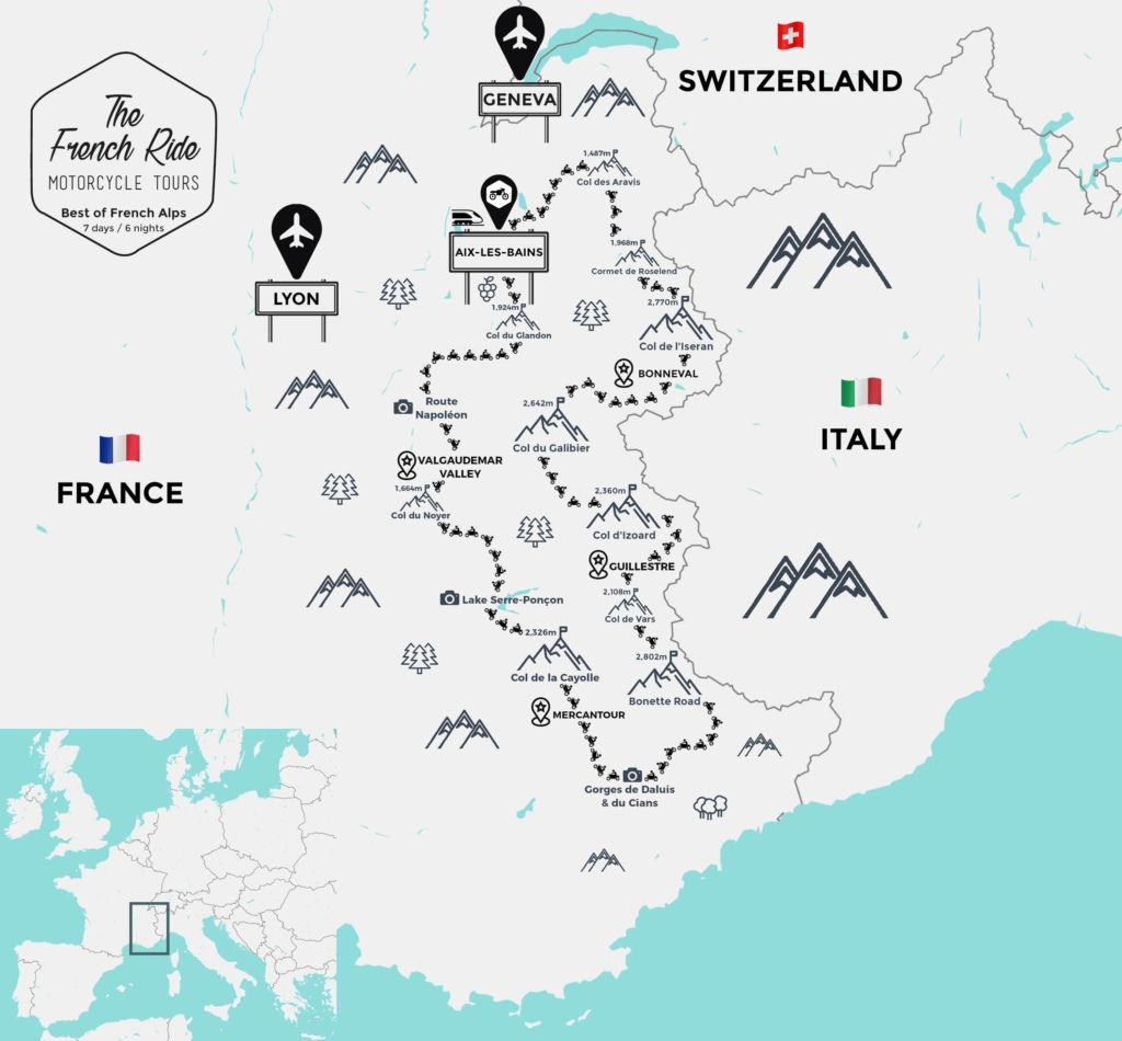 motorcycle tour of the french alps